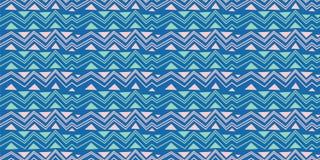 Plemienny bezszwowy szewronu trójboka wzór Afrykańskiego druku dekoracyjny tradycyjny rocznik kolorowe tła abstrakcyjne ręka patr ilustracja wektor