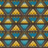 Plemienny bezszwowy wzór Fotografia Stock