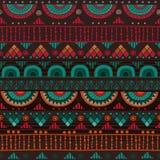 Plemienny bezszwowy wzór Obrazy Stock