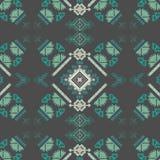 Plemienny bezszwowy wzór Aztek sztuki abstrakcjonistyczny geometryczny druk Etniczny modnisia tło Zdjęcia Royalty Free