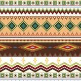 Plemienny etniczny bezszwowy lampasa wzór na białym tle Zdjęcie Stock