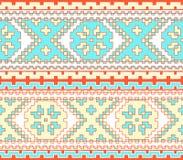 Plemienny etniczny bezszwowy wzór Obraz Royalty Free