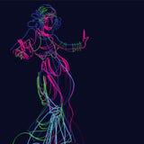 Plemienny fuzi gypsy tancerz royalty ilustracja