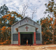 Plemienny kościół Fotografia Royalty Free