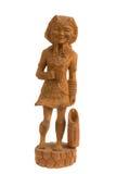 Plemienny kobiety drewno Zdjęcia Royalty Free