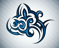 plemienny kwiatu tatuaż Obrazy Stock