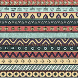 Plemienny multicolor bezszwowy wzór, hindus lub afrykański etniczny patchworku styl, ilustracji