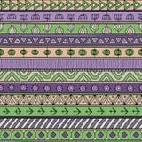 Plemienny multicolor bezszwowy wzór, hindus lub afrykański etniczny patchworku styl, Fotografia Stock