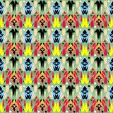 Plemienny ornamentacyjny wektorowy bezszwowy wzór Ludowy abstrakcjonistyczny colorfu ilustracji