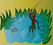 Plemienny połów Zdjęcie Royalty Free