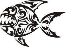 plemienny rybi tatuaż Obraz Stock