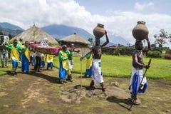Plemienny rytuał - Rwanda Fotografia Royalty Free