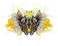 Plemienny smoka motyl z pluśnięciami Fotografia Royalty Free