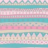 Plemienny stylowy bezszwowy wektoru wzór dla tkaniny, scrapbooking, opakunkowego papieru i tła, Samotny marznący drzewo Zdjęcie Royalty Free