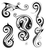 Plemienny sztuka tatuażu set Fotografia Royalty Free