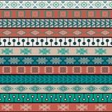 Plemienny trykotowy bezszwowy wzór, hindus lub afrykański etniczny patchworku styl, ilustracja wektor