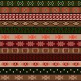 Plemienny trykotowy bezszwowy wzór, hindus lub afrykański etniczny patchworku styl, royalty ilustracja