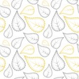 Plemienny wzór w kolorze żółtym i siwieje kolory Ilustracja Wektor