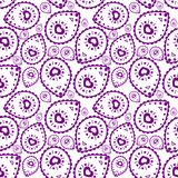 Plemienny wzór w purpura kolorze Royalty Ilustracja