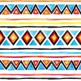 plemienny wzoru Bezszwowy tło - rocznika boho etniczny projekt akwarela ilustracji