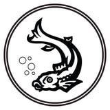plemienny znak ryb royalty ilustracja