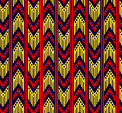 Plemienny zygzakowaty bezszwowy wzór Zdjęcia Stock
