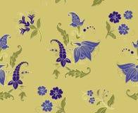 Plemiennych kwiatów bezszwowy wzór Indiański obywatela Paisley ornament dla bawełny, bieliźniane tkaniny Artystyczny ornament dla ilustracja wektor