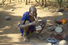 Plemiona Omo dolina w Etiopia Zdjęcie Royalty Free