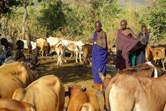Plemiona Omo dolina w Etiopia Obraz Stock