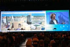 Plenarsitzung bei der ESRI Benutzer-Konferenz 2010 Stockfoto