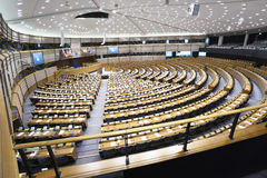 Plenary Chamber at the European Parliament Stock Image