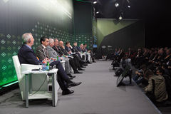 Plenary discussion Stock Image