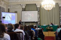 Plenary thesis of Nobel Prize Laureate in chemistry Roger Kornberg Royalty Free Stock Photos