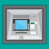 Plenerowa ATM maszyna w płaskim projekcie Wektorowa ilustracja EPS10 Ilustracji