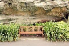 Plenerowa ławka Fotografia Royalty Free