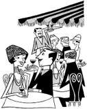 Plenerowa Caf_ scena ilustracji