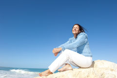 Plenerowa emerytura aktywna kobieta Fotografia Stock
