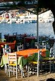Plenerowa Grecka tawerna zdjęcia royalty free