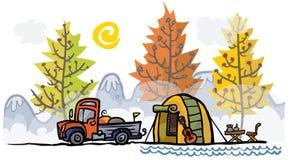Plenerowa ilustracja Kolor wersja Obrazy Royalty Free
