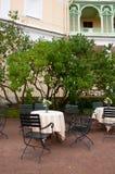 Plenerowa kawiarnia, święty Petersburg Zdjęcie Stock