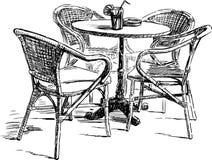 Plenerowa kawiarnia ilustracja wektor