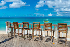 Plenerowa kawiarnia na plaży Barbados, Karaiby Zdjęcia Royalty Free