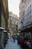 Plenerowa kawiarnia w Belgrade Zdjęcie Royalty Free