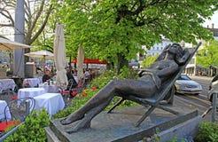 Plenerowa kawiarnia, Zurich, Szwajcaria Obrazy Stock