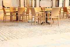 plenerowa krzesło restauracja Obrazy Stock
