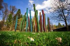Plenerowa parkowa scena coloured boisko 2 obrazy stock