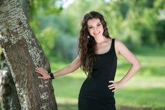 plenerowa piękno kobieta zdjęcie royalty free