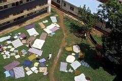Plenerowa pralnia w Mulago szpitalu, Kampala Obrazy Royalty Free