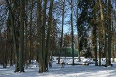 Plenerowa scena podczas zimy fotografia stock