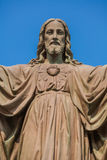 Plenerowa statua Jezus Fotografia Stock